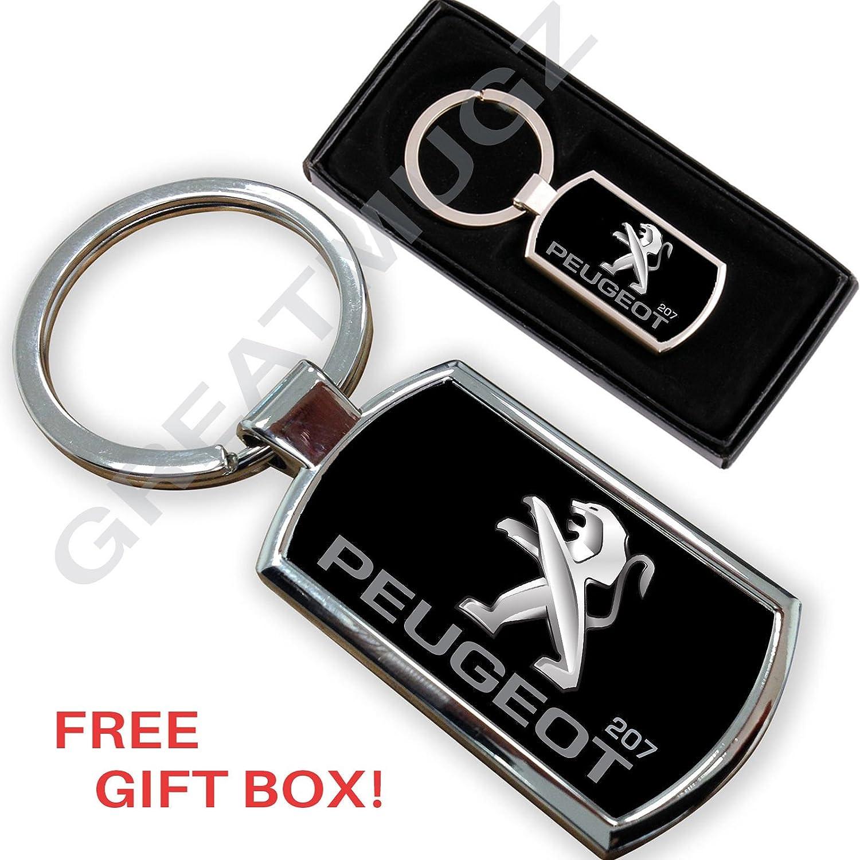 Peugeot 207 COCHE llavero clave cadena anillo llavero de ...