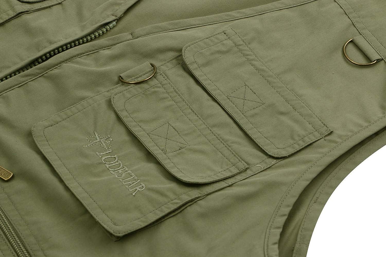 JIINN Herren Fr/ühling Sommer Outdoor Gilets Multi-Pocket Reporter Fotografie Weste /ärmellose verdeckt tragen Waistcoat Casual Vest Men Sleeveless Jacke