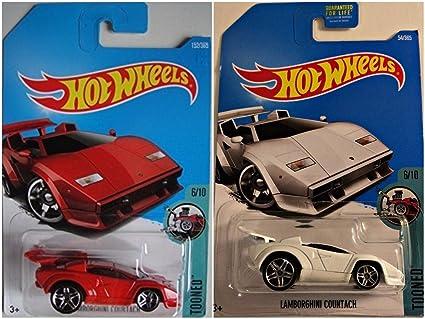 Amazon.com Hot Wheels Lamborghini Countach Red 152/365 and