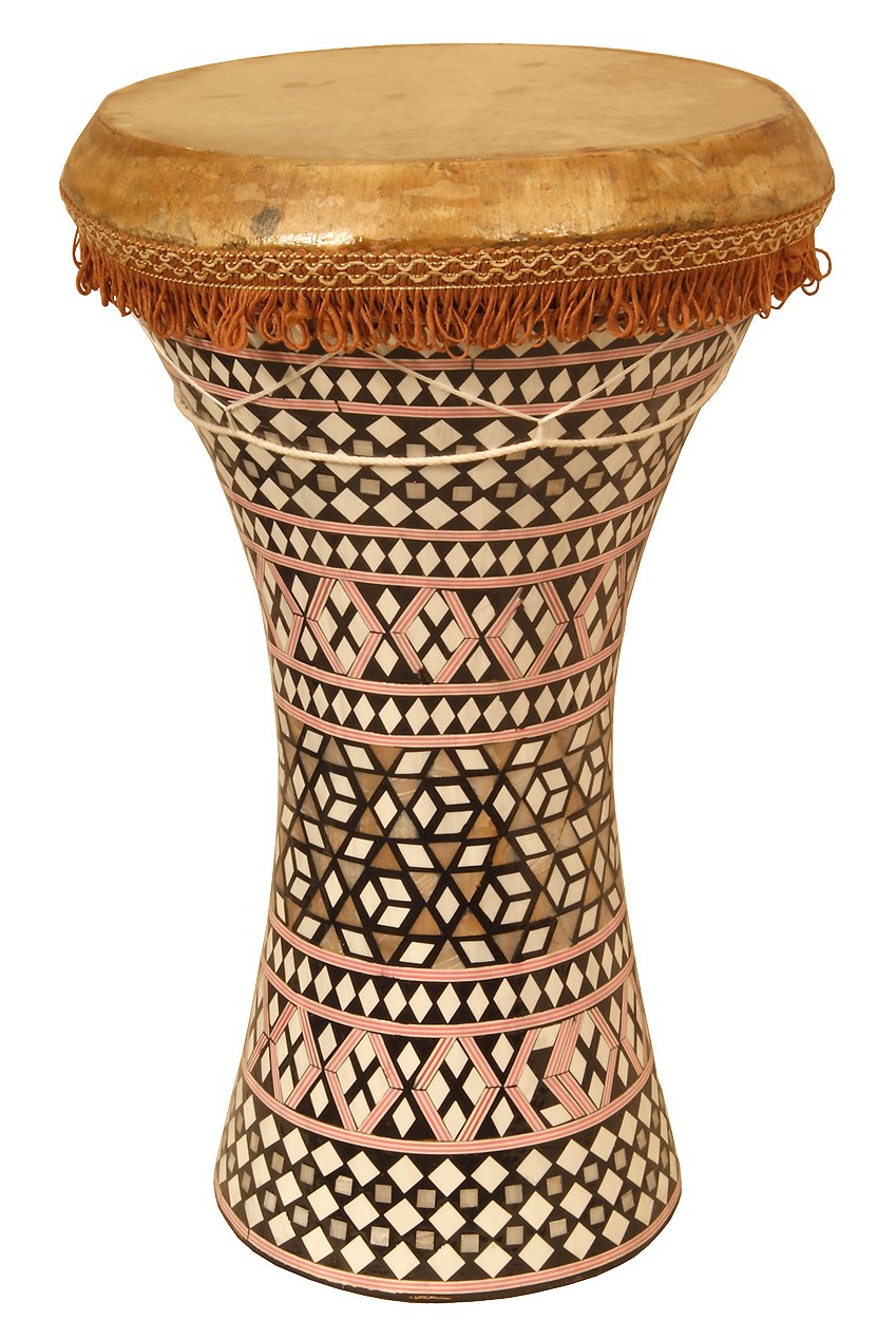 Mosaic Wooden Doumbek, Large - Mid-East WDEL