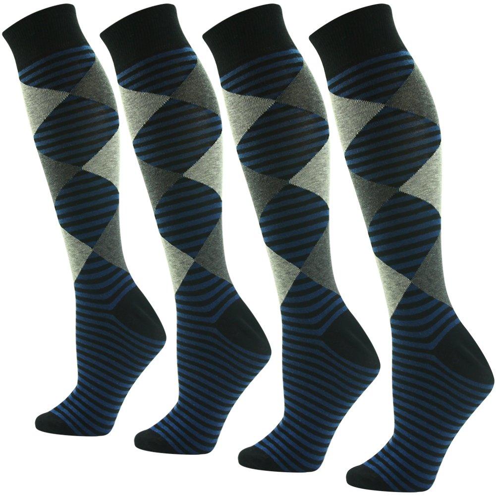 Suttos Black-stripe SOCKSHOSIERY 4 メンズ レディース レディース B07PZ7RRLQ 4 Pairs-brown Black-stripe Argyle 4 Pairs-brown Black-stripe Argyle, INTERMANIA:943c47c9 --- mail.tastykhabar.com