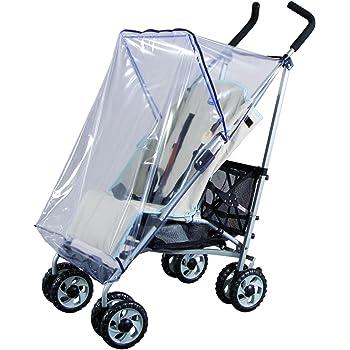 Für einen Buggy gibt es viele praktische Zubehörteile, beispielsweise den Regenschutz von Sunnybaby.