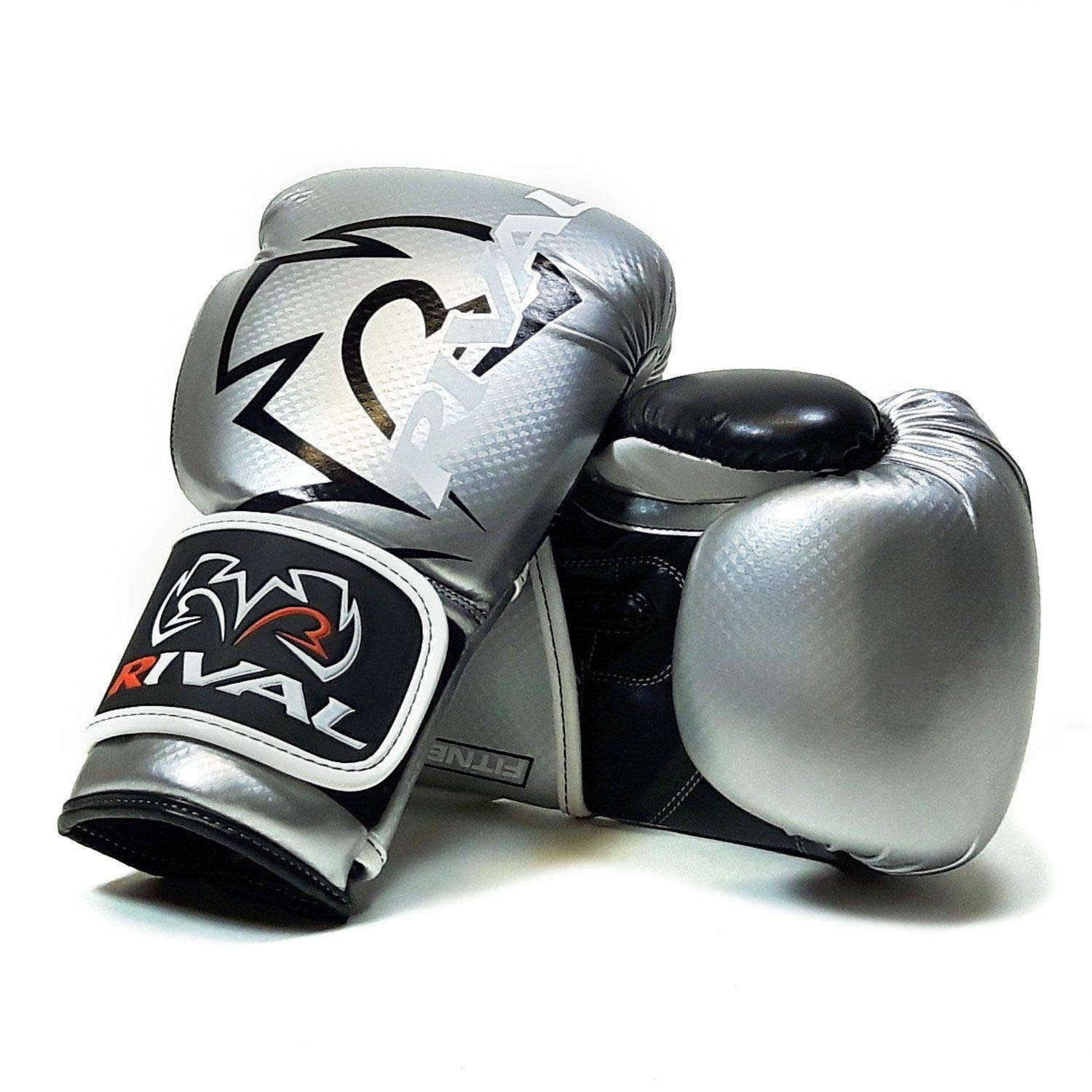 Rival RB7 SILVER FITNESS BOXING BAG GLOVES: Amazon co uk
