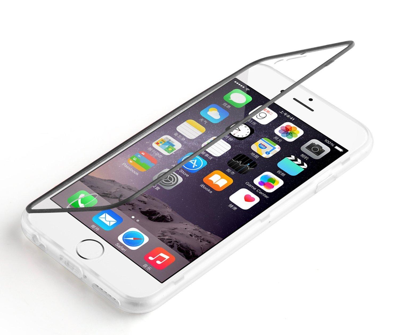 coque iphone 8 clapet transparent