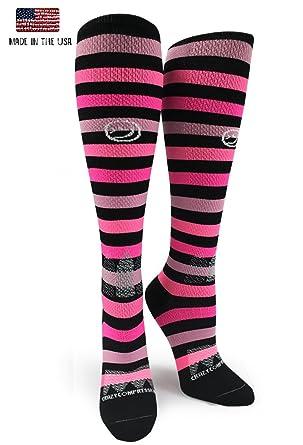 fe1e8e703b Amazon.com: Crazy Compression OTC All About Stripes Compression Socks:  Clothing