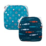 ALVABABY Baby Swim Diapers 2pcs One Size Reuseable Washable Adjustable for Swimming Lesson Baby Shower Gifts YK56-57