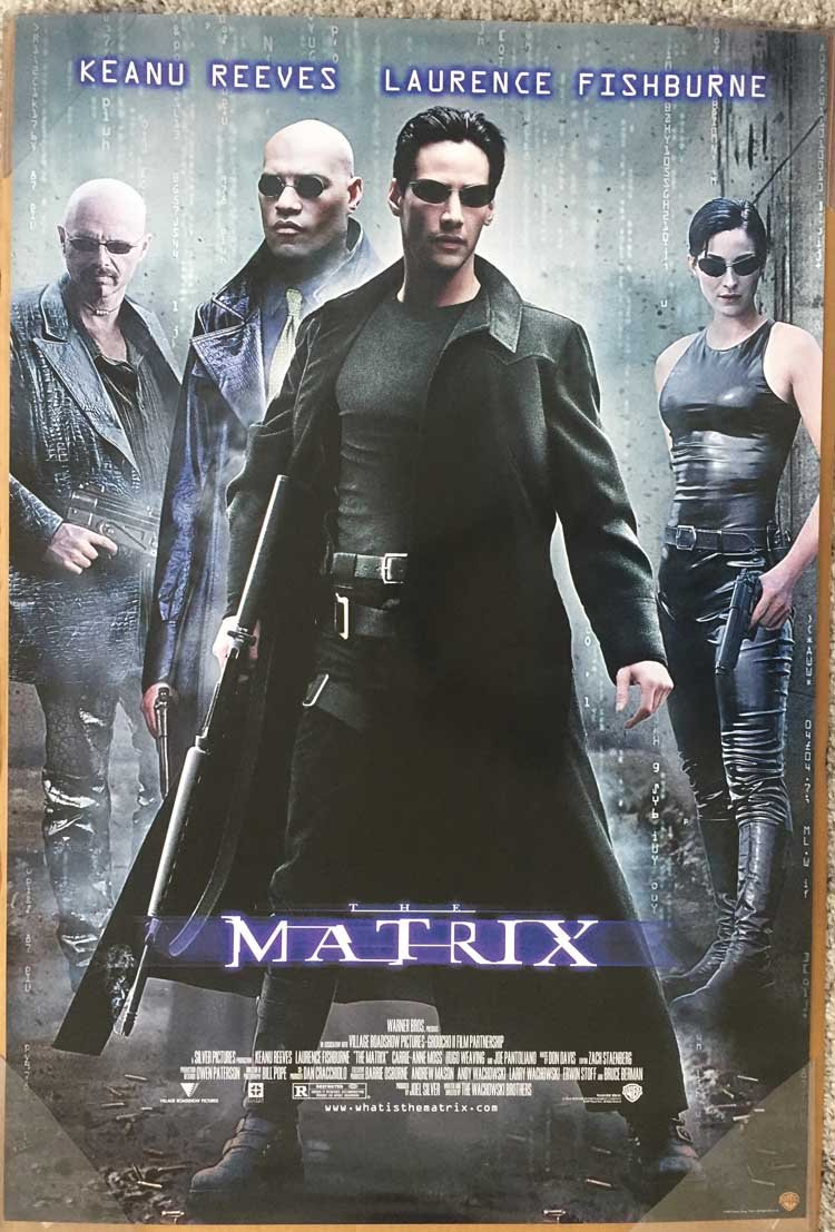 THE MATRIX MOVIE POSTER 1 Sided ORIGINAL 27x40 KEANU REEVES
