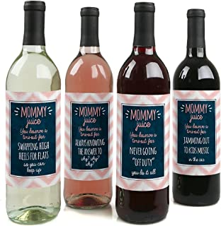 product image for Mommy's Time-Out - Gift For Women - Wine Bottle Label Stickers - Set of 4