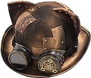 Questo è un cappello vintage SteamPunk, fatto a mano, per cosplayer, con orecchie da gatto.