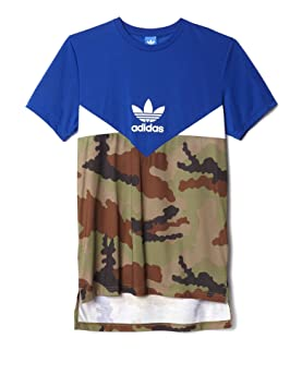 Adidas Essentials Clrdo - Camiseta para Hombre, Hombre, Essentials CLRDO, Collegiate Royal/White/Earth Khaki, Extra-Large: Amazon.es: Deportes y aire libre