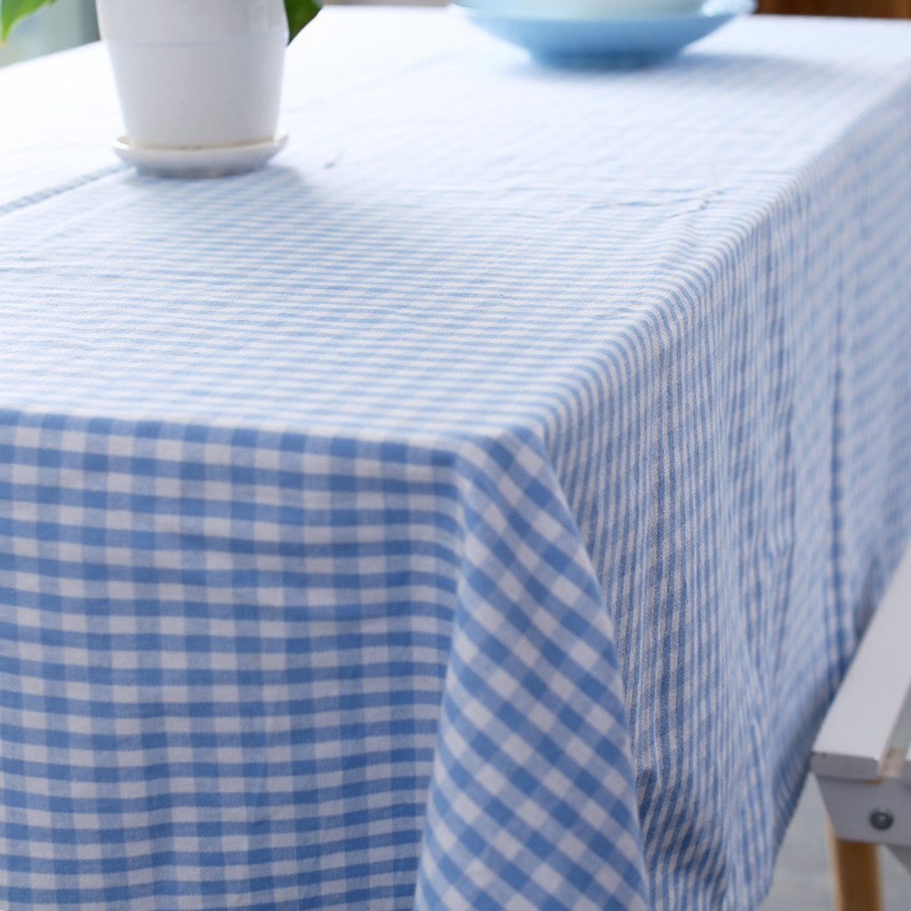 Amazon.com: Vintage Gingham Tablecloths 55X80 Inch Rectangular ...
