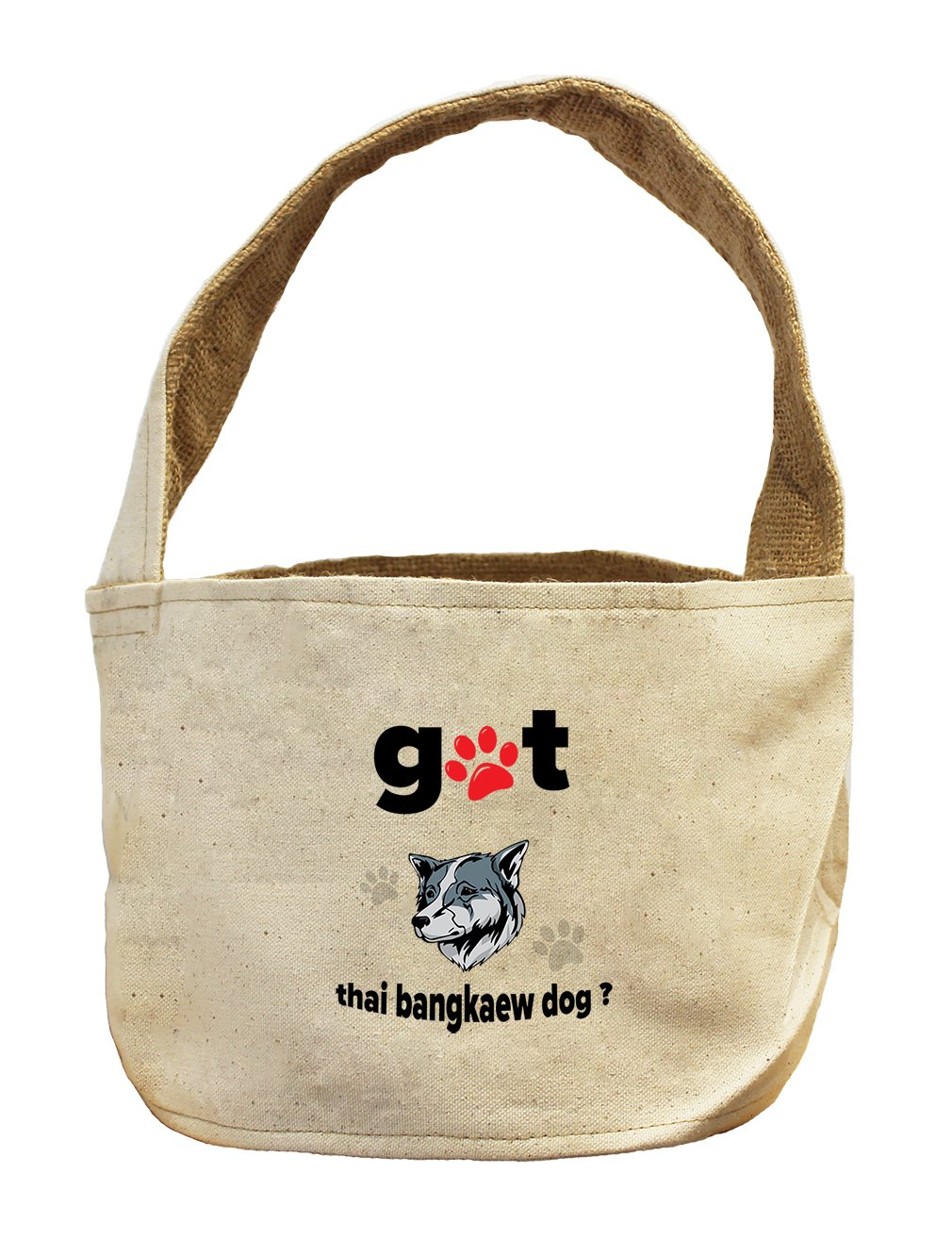Style in Print Canvas And Burlap Storage Basket Got Thai Bangkaew Dogdog by Style in Print