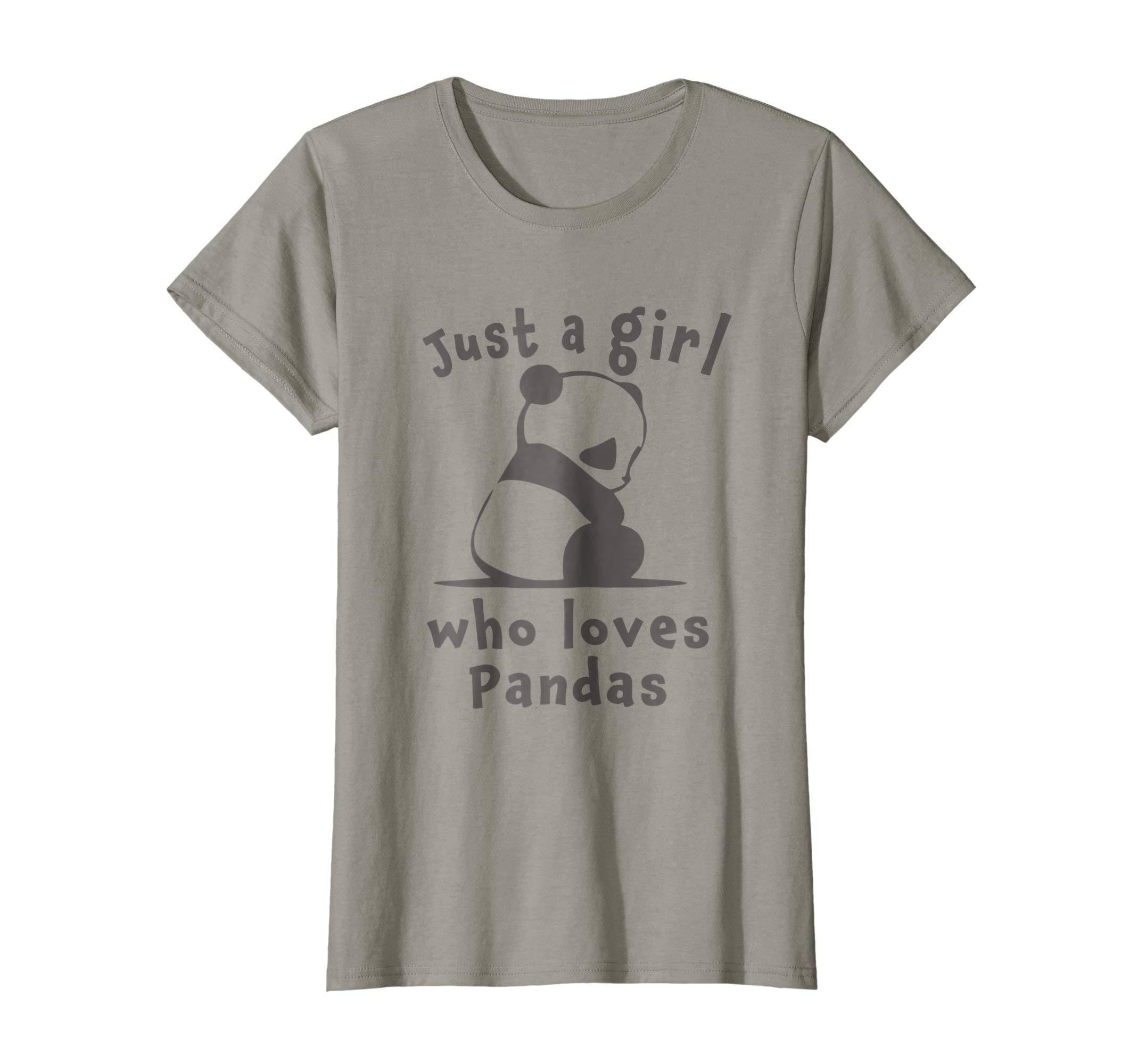 Womens Best Cutest Panda Ever Just A Girl Cute Gift T-Shirt Medium Slate