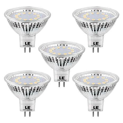 LE Bombillas GU5.3 LED Blanco frío 3,5W=35W Halógena, Pack