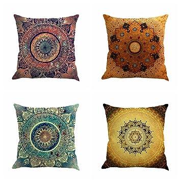 Amazon.com: Juego de 4 fundas decorativas para ...