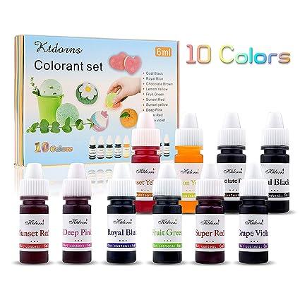 Ktdorns Juego De Jabón 10 Colores Líquidos Para Colorear