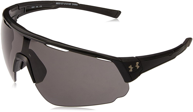 9b23ce541aa Amazon.com  Under Armour Change Up Wrap Sunglasses UA CHANGEUP Satin Black  Frame Gray Lens