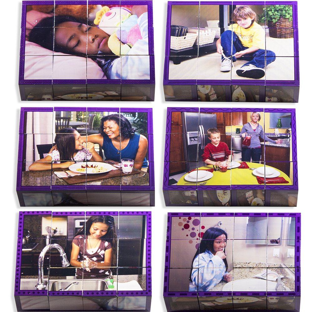 Stages Learning Real Real Learning Bilder und Materialien Holz Cube Sprache Baumeister Vorschule Puzzle Puzzles 8d41be