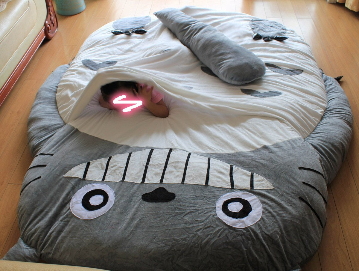 Amazon Norson My Neighbor Totoro Sleeping Bag Sofa Bed Twin Double Mattress For Kids Warm Cartoon Tatami Beanbag Size