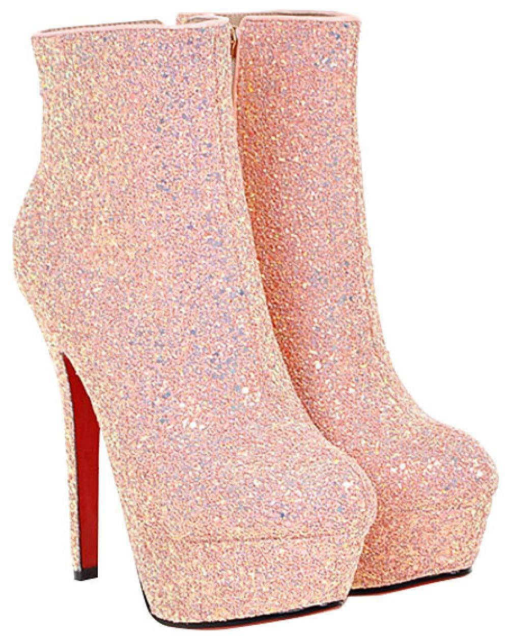 HhGold Weibliche Stiefel Die Nachtschuhe Der Hohen Schuhe Schuhe Schuhe Der Schuhe Wedding Sind (Farbe   Rosa, Größe   37EU) 6bd42e