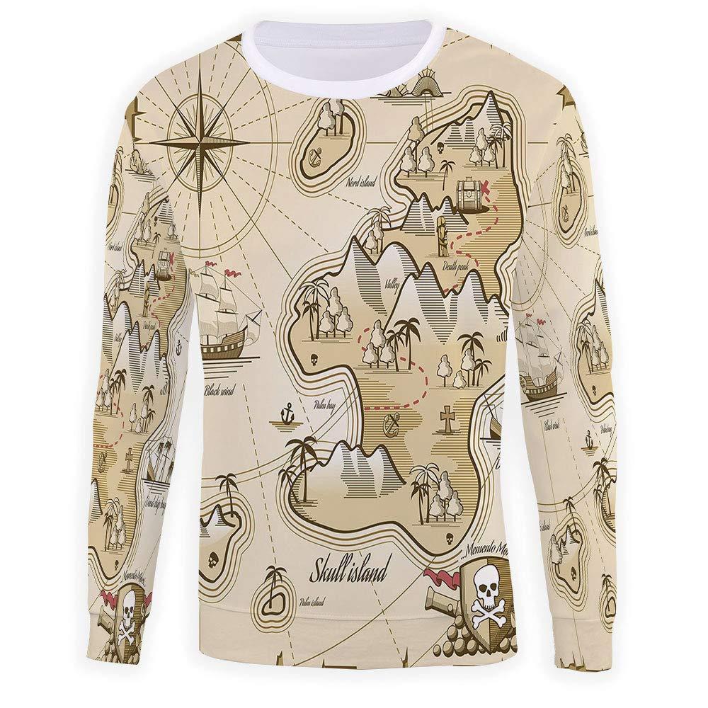 MOOCOM Adult Pirate Crewneck Sweatshirt