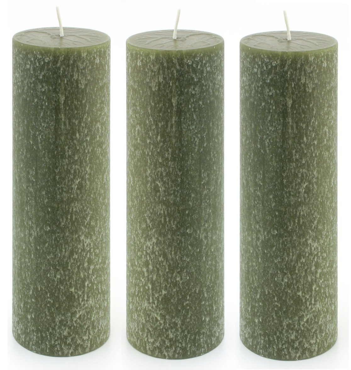 Root Unscented Timberline Pillar Candles, 2-Inch by 6-Inch Tall, Box of 3, Aqua 326155