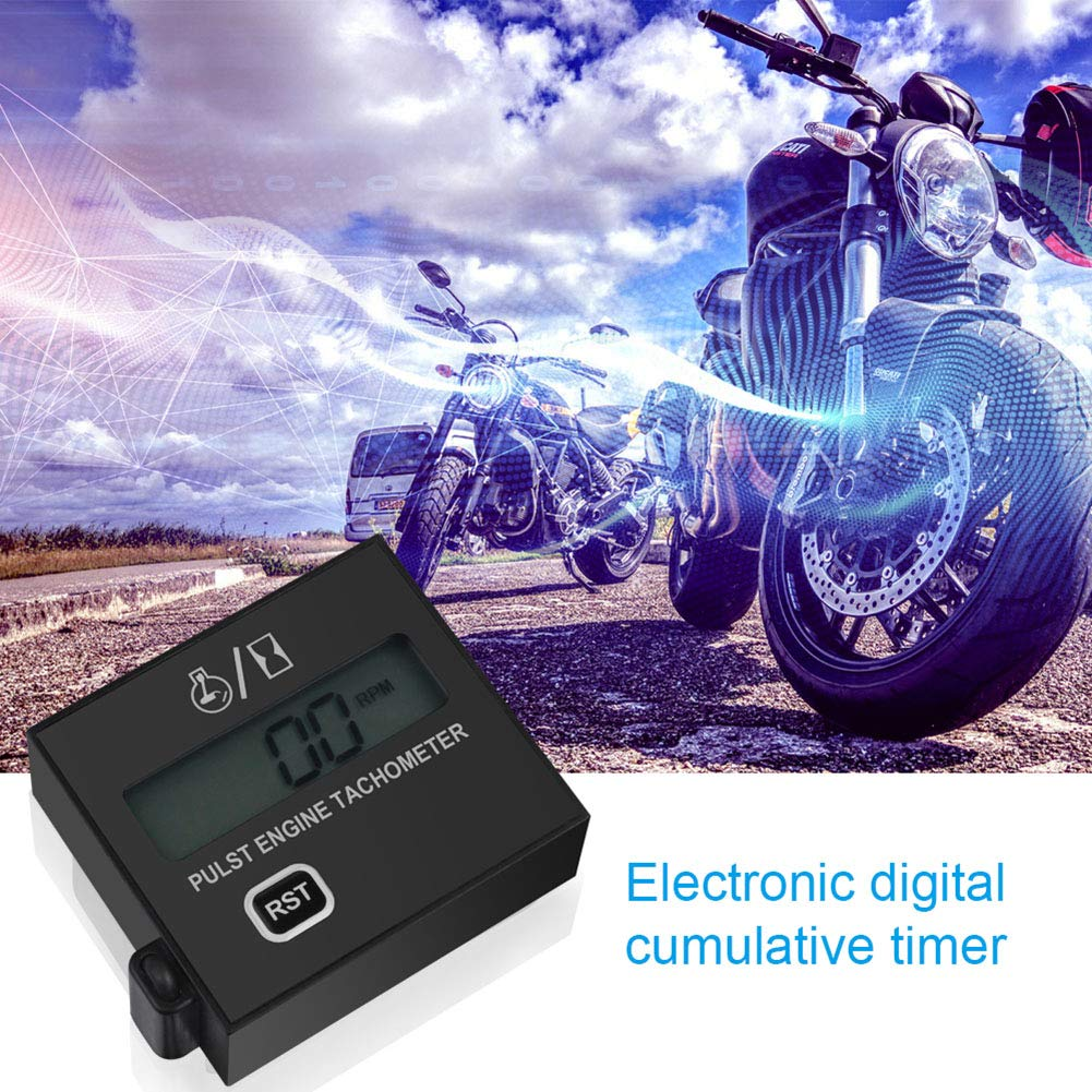 Inductive Pulse Speed Tachometer Suitable For Chainsaws Motorcycles Dogggy Digital Tachometer Lawn mowers
