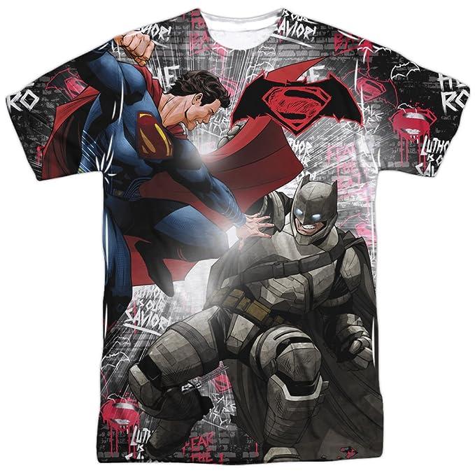 Amazon.com: Batman vs. Superman- Showdown (Front/Back) T-Shirt Size XXXL: Clothing