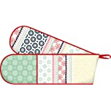Creative Tops The Wanderer Collection Cotton Double Oven Glove, Multi-Colour