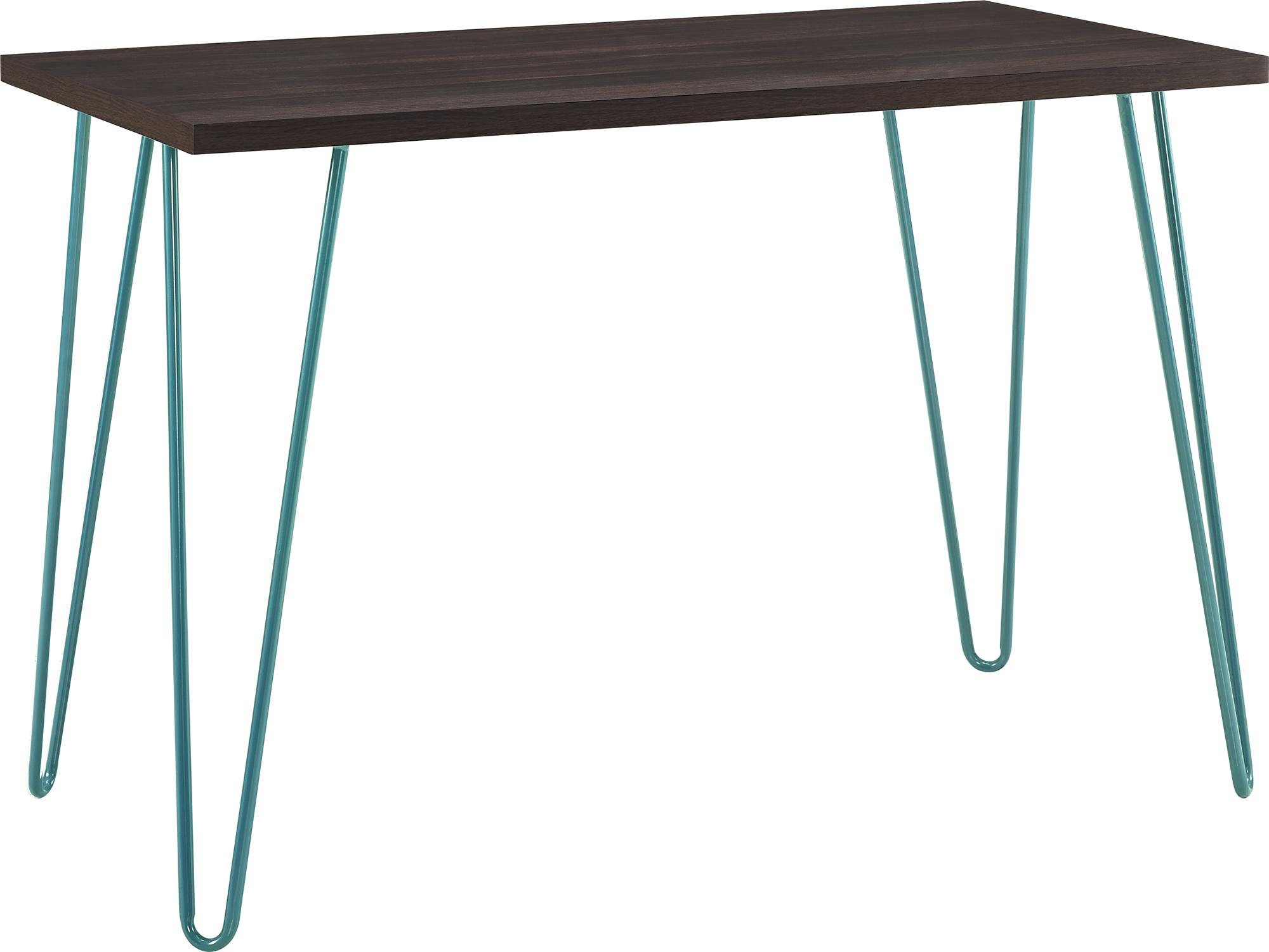 Ameriwood Home Owen Retro Desk, Espresso/Teal