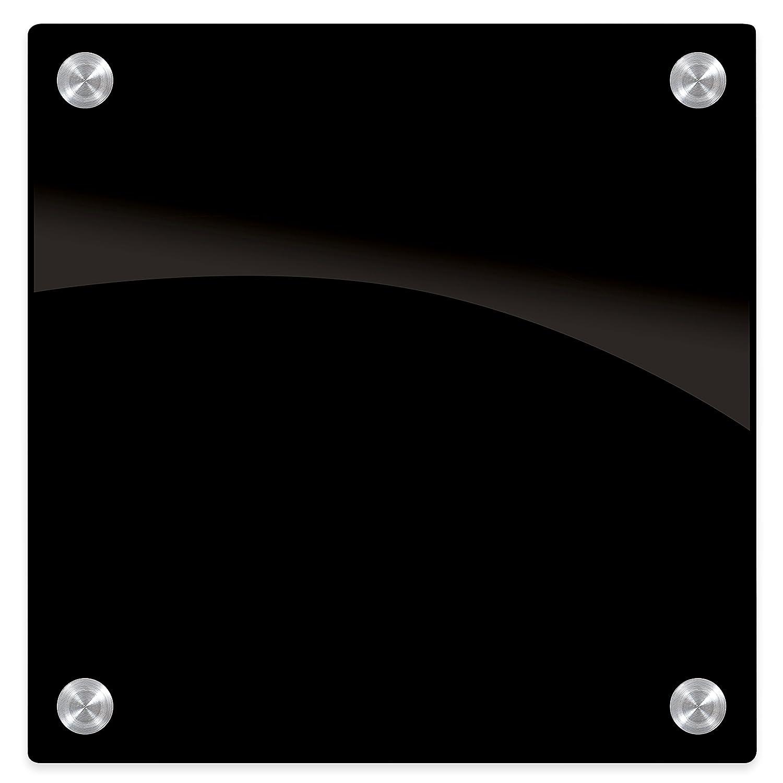 Best-Rite Enlighten ガラスホワイトボードブラック 1/8インチ 強化ガラス 1.5 X 2フィート (84072 ) 1 x 1 Feet B00GXMB1SE 1 x 1 Feet|ブラック ブラック 1 x 1 Feet