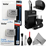 Vivitar NB-10L Battery and Charger Kit for Canon PowerShot SX40 HS SX40HS, SX50 HS SX50HS, SX60 HS SX60HS, G1 X G1X, G3 X G3X, Powershot G15, PowerShot G16