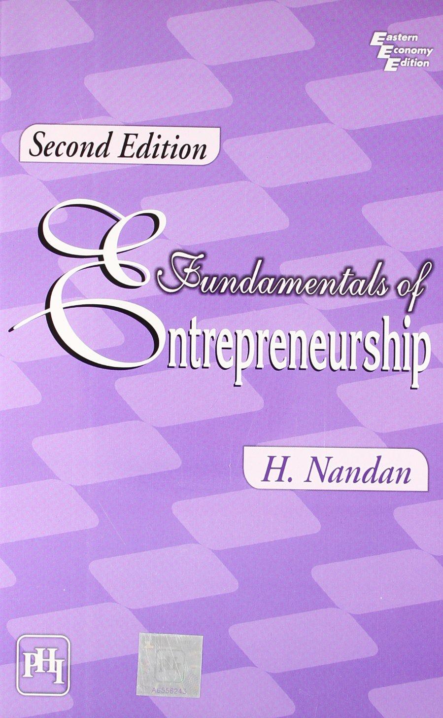 Download Fundamentals of Entrepreneurship pdf epub