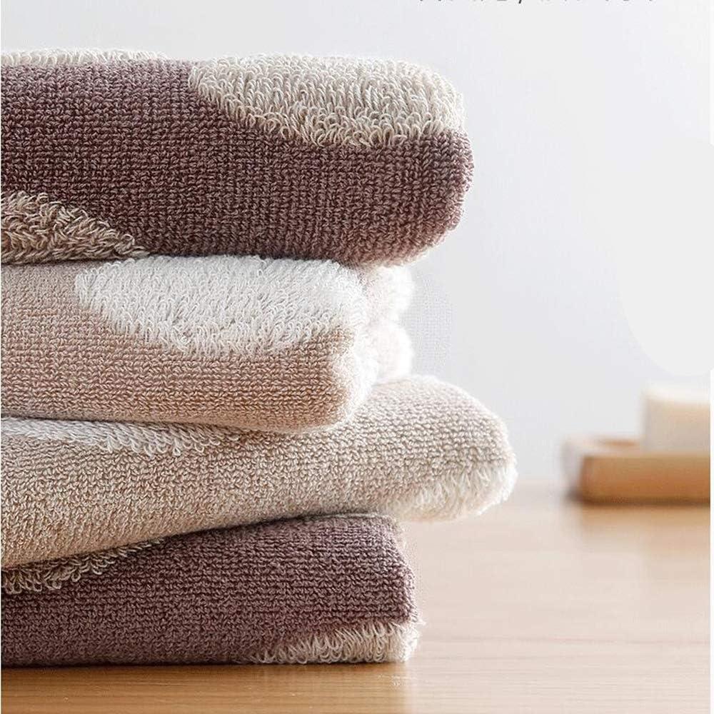 Set Di Asciugamani Per Il Viso In Cotone Morbidi E Altamente Assorbenti Per Coppia Adulta,3Piece