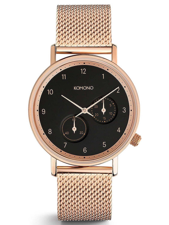 Komono Crafted Walther Rose Gold Mesh Armbanduhr KOM-W4022