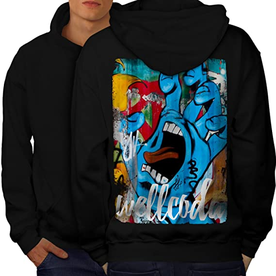 Wellcoda Graffiti Design Mens Sweatshirt Street Casual Pullover Jumper