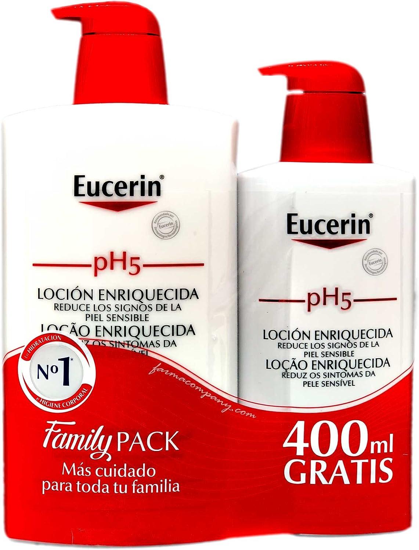 Eucerin - pH5 Loción Enriquecida, 1 L + 400 ml Eucerin Ph5 Locion Enriquecida gratis