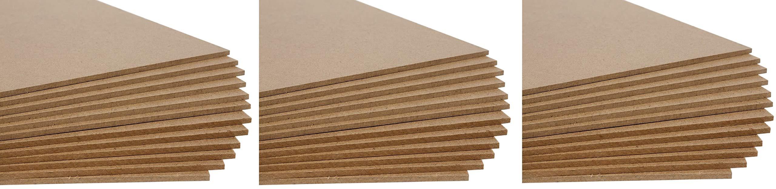 Jack Richeson Medium Density Untempered Hardboard(12 pack), 8x10 (Thrее Рack)