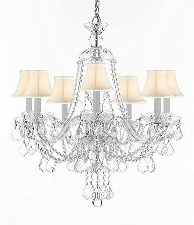 Amazon.com: Lámpara de araña iluminación araña de vidrio H28 ...