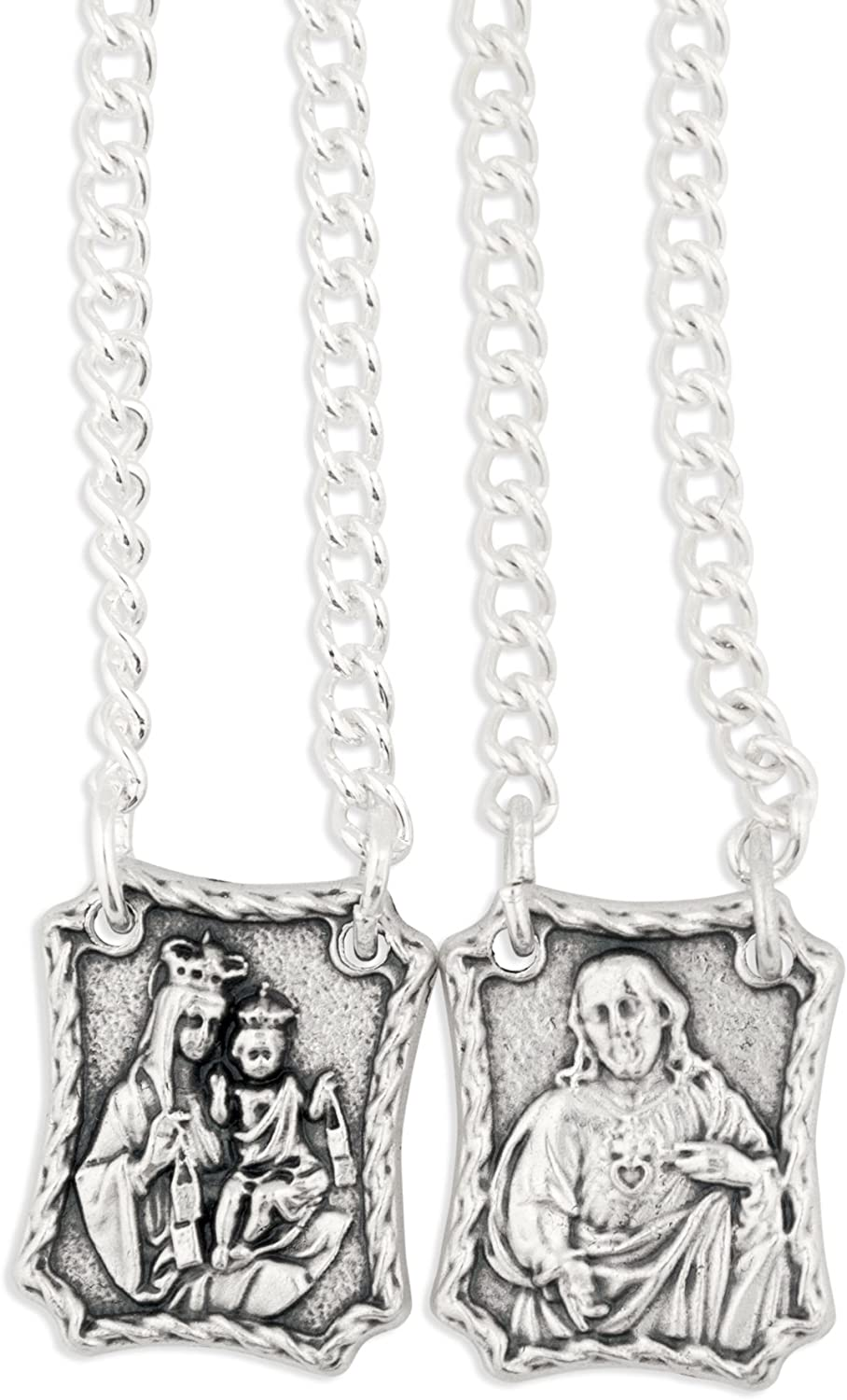 Vatican Imports Our Lady of Mount Carmel Metal Scapular