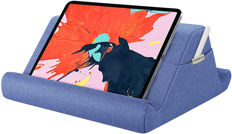 Denim Azul iPad Air 3 2 Pad Multi-/ángulo Suave y Port/átil de Lectura Holder Compatible con iPad 8/ª 10.2 iPad Pro 11//10.5//9.7 MoKo Soporte de Almohada para Tableta iPad Air 4/ª 10.9 iPad 10.2