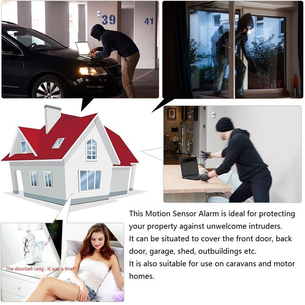 WER inalámbrico Sensor Seguridad Home Store de garaje de ...