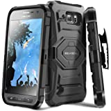 Galaxy S6 Active Case, Evocel [New Generation] Dual Layer Rugged Holster Case with Kickstand and Belt Swivel Clip For Samsung Galaxy S6 Active SM-G890 (2015 Release), Black