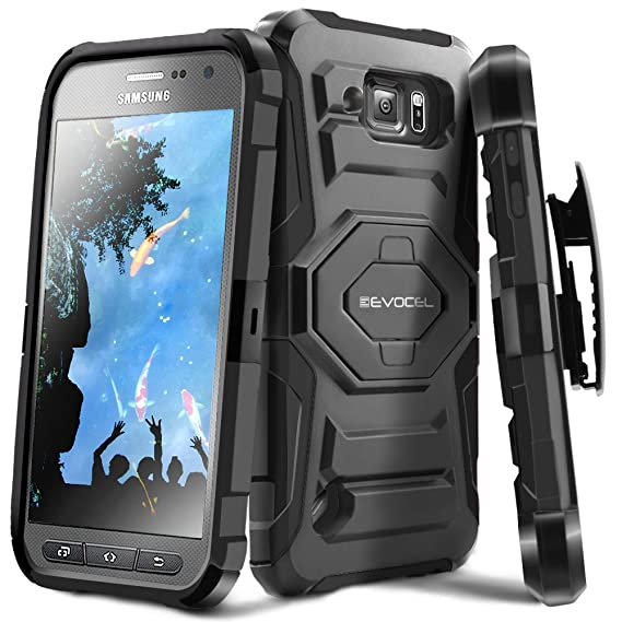 classic fit 6f357 7c23e Galaxy S6 Active Case, Evocel [New Generation] Dual Layer Rugged Holster  Case with Kickstand & Belt Clip for Samsung Galaxy S6 Active SM-G890 (Does  ...