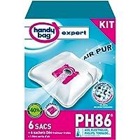 Handy Bag Sacs Aspirateurs, Pour Aspirateurs Philips, Electrolux, AEG et Tornado, Progress, Fermeture Hermétique, Filtre Anti-Allergène, PH86