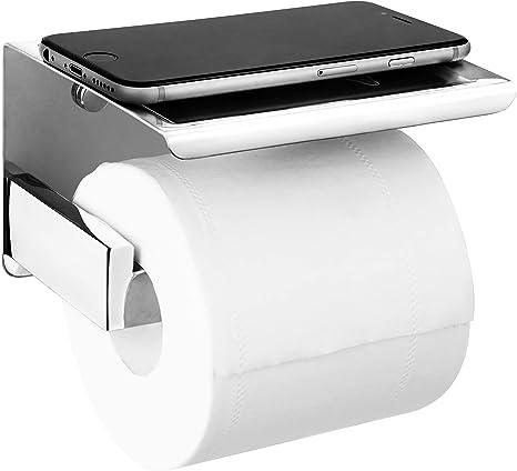 HITSLAM Stainless Steel Toilet Roll Holder Matte Black Chrome Paper Holder...