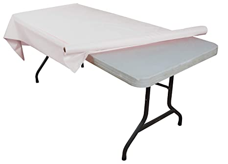 190 & White plastic table roll