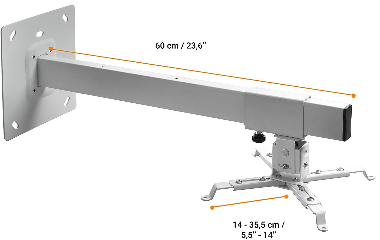 BeMatik Soporte de pared para proyector de brazo cuadrado de 13 cm a 100 cm