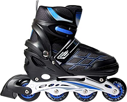 5-8//Black-Orange 5th Element B2-100 Adjustable Kids Recreational Inline Skates