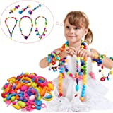 Snap Pop Beads Girl Toy - Happytime 180 Pieces DIY Jewelry Kit Fashion Fun for Necklace Ring Bracelet Art Crafts Christmas Gift Toys for Kids Girls